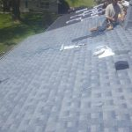 new shingles, roof vent, flashing